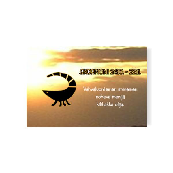 horoskooppimagneetti savolainen skorpioni